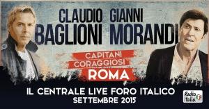 Gianni Morandi e  Claudio Baglioni in Concerto